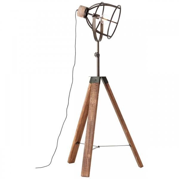 92640/46 Matrix Wood Standleuchte, dreibeinig Metall/Holz schwarz stahl