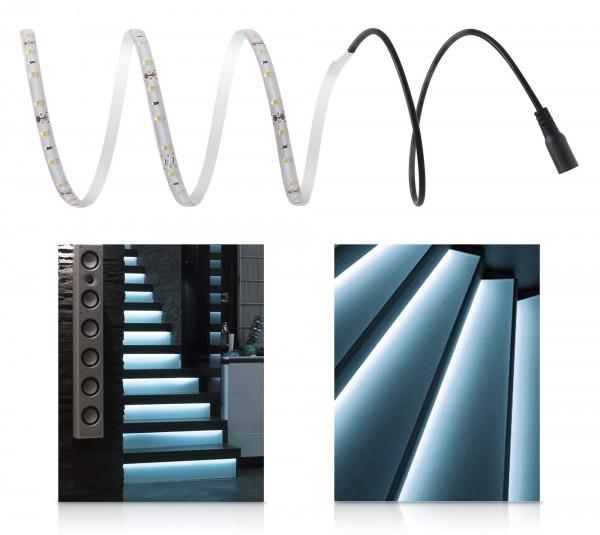 LED 12V Comfort Treppenbeleuchtung mit Netzteil kaltweiß 1-15 Stufen