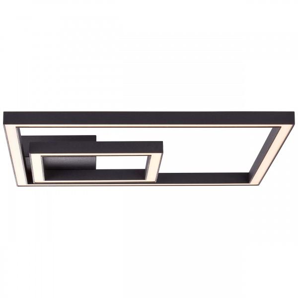 Brilliant G97180/06 Quon Wand- und Deckenleuchte 40x40cm Metall/Kunststoff schwarz