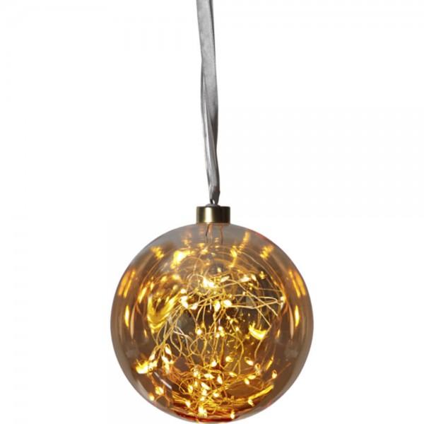 "Star Trading 457-76 ""Glow"" Glaskugel mit 40 warmwhite LED, ca. 15 cm Ø"