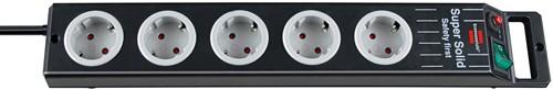 Brennenstuhl Super-Solid, Steckdosenleiste 5-fach schwarz/grau 2,5m Kabel