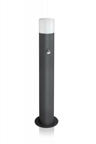Wegeleuchte rund 60 cm anthrazit mit Bewegungsmelder