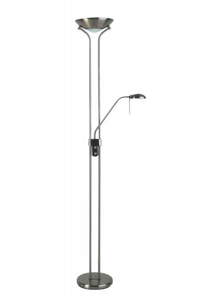 Brilliant 89561/13 Nebraska Deckenfluter mit Lesearm Metall/Glas eisen