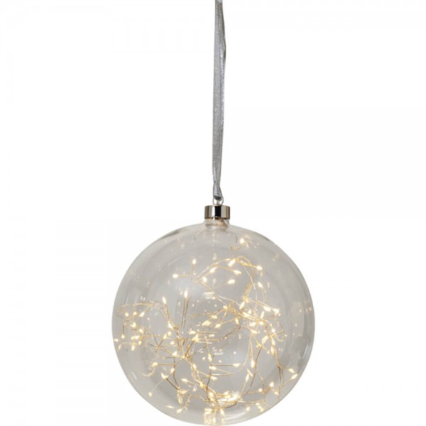 "Star Trading 457-84 ""Glow"" Glaskugel mit 80 warmwhite LED, ca. 20 cm Ø"