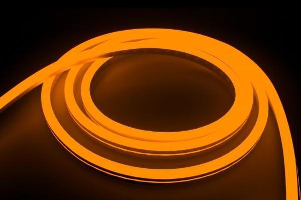 230V LED NeonFlex Streifen Set | orange | Netzkabel opt 3 Längen | 1 bis 50m wählbar | IP66