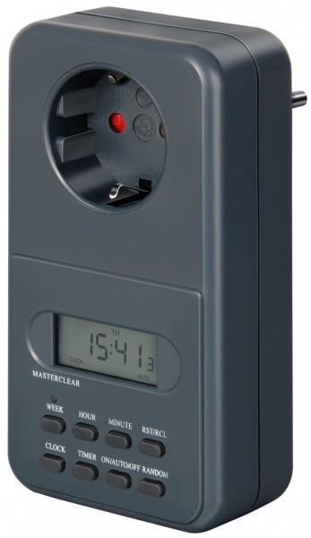 Digitale Wochenzeitschaltuhr IP20, digitale Timer-Steckdose (Wochen-Zeitschaltuhr für Innenbereich &