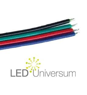 4 Pol Kabel 4x0,6mm Verlängerung für RGB LED Streifen 1m-100m