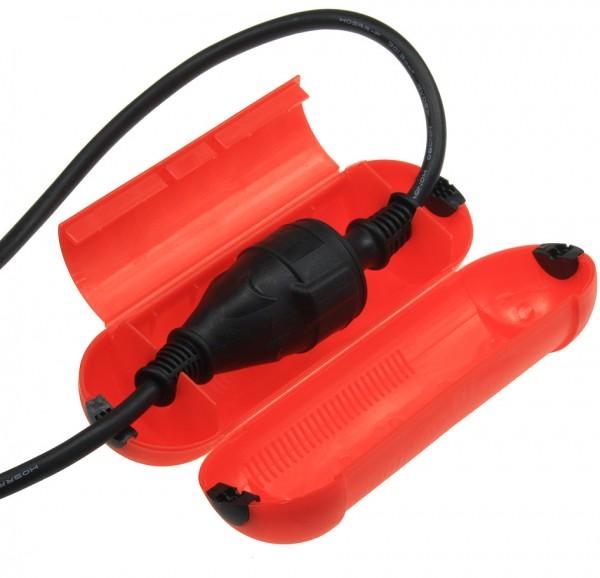 Sicherheits-Schutzbox für Kabel, IP44, 205 x Ø 68mm, rot
