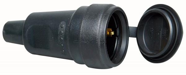 Kopp Schutzkontakt-Gummikupplung, Kappe Knickschutz IP44, für 3x2,5 mm², schwarz