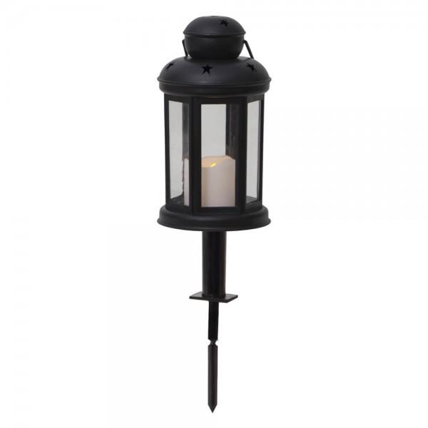 """LED-Kunststoff-Laterne""""Serene"""",schwarz, 1LED-Kerze"""