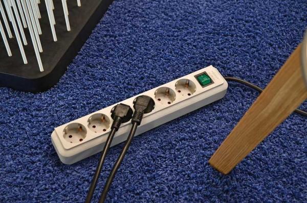 Brennenstuhl Eco-Line Steckdosenleiste mit Schalter 3-fach 3m Kabel schwarz