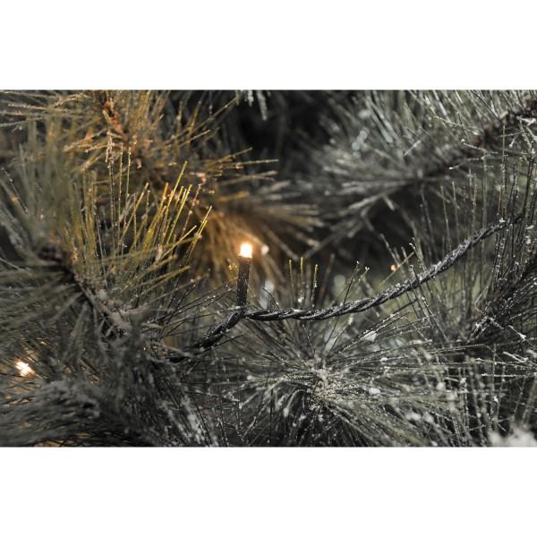 Konstsmide 3610-800 | Micro LED Lichterkette | 40 bernsteinfarbene Dioden | schwarzes Kabel | Außen