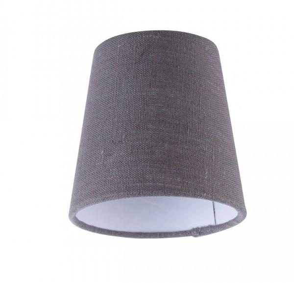 Fischer & Honsel M6 Licht / Vintage 70194 Stoffschirm grau/ innen weiß, ø11/8 x 11cm