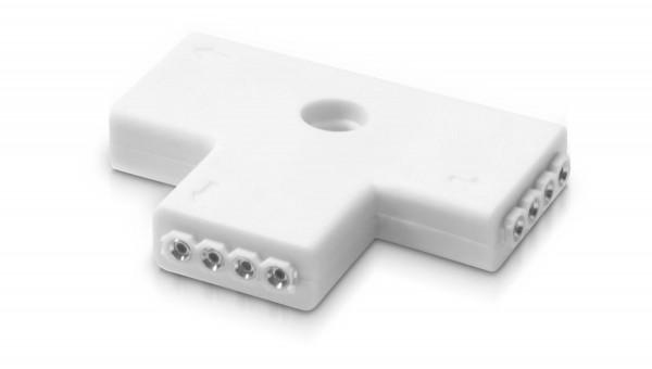 10er SET T-Verbinder vergossen 4 polig inkl. 30 Lötstifte für RGB LED Streifen