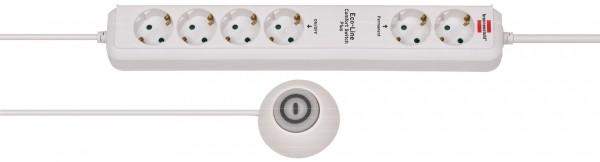 Brennenstuhl Eco-Line Comfort Switch Plus, Steckdosenleiste 6-fach (2 permanente, 4 schaltbare Steck
