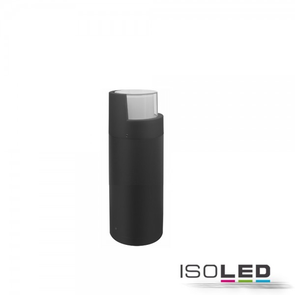 ISOLED 114282 LED Wegeleuchte Poller-6, 30cm, 6W, sandschwarz, warmweiß