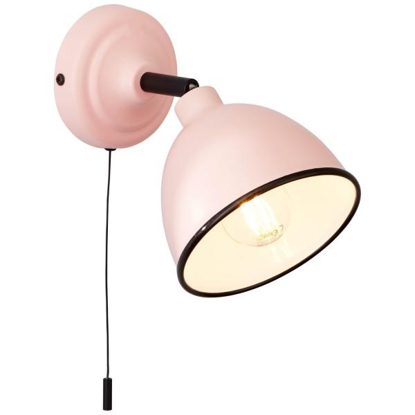 Brilliant 97002/17 Telio Wandleuchte mit Zugschalter Metall rosa
