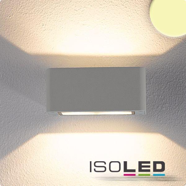 112196 LED Wandleuchte Up&Down 4x3W CREE, IP54, silber, warmweiß