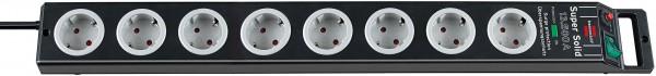 Brennenstuhl Super-Solid 8-fach Überspannungsschutz-Steckerleiste 13.500A 2,5m schwarz