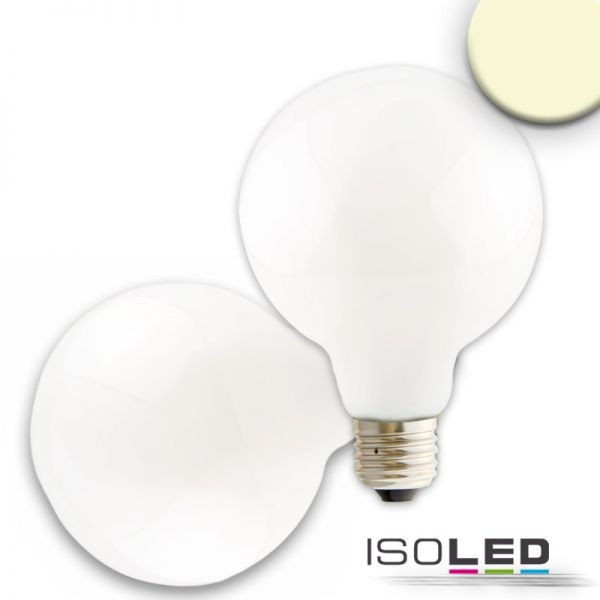 ISOLED 112596 E27 LED Globe G95, 8W, 360°, milky, warmweiß, dimmbar