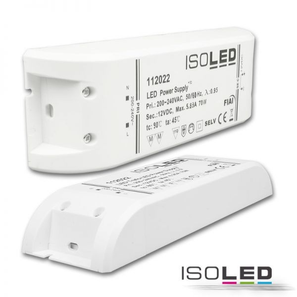 LED Trafo 12V/DC, 0-70W
