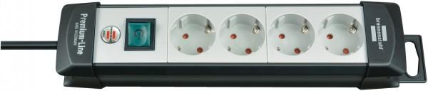 Brennenstuhl Premium-Line 4-fach Steckdosenleiste Schalter 1,8m Kabel schwarz/grau