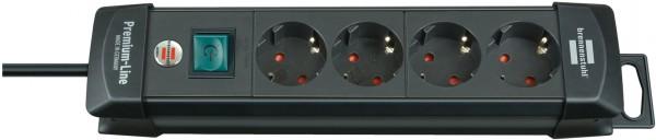 Brennenstuhl Premium-Line 4-fach Steckdosenleiste Schalter 1,8m Kabel schwarz
