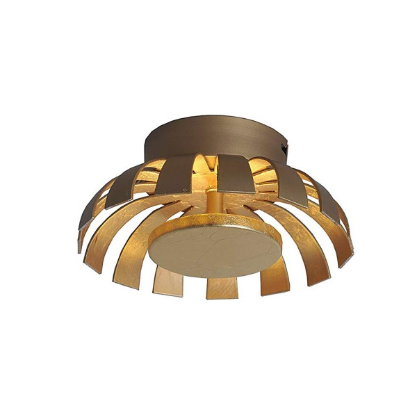ECO-LIGHT 9017 S GO LED-Wand-/Deckenleuchte FLARE gold