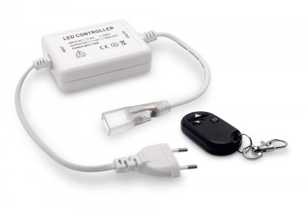 Funkfernbedienung Controller Dimmer Netzkabel 230V für einfarbige 5050 LED Streifen