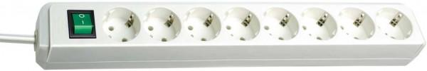 Brennenstuhl Eco-Line Steckdosenleiste mit Schalter 8-fach 3m Kabel weiß
