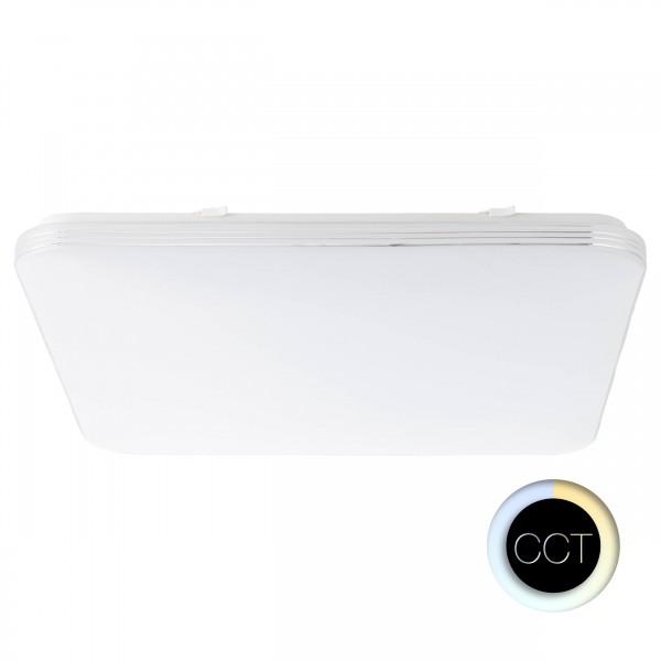 Brilliant G96965/05 Ariella Wand- und Deckenleuchte 54x54cm Metall/Kunststoff weiß/chrom
