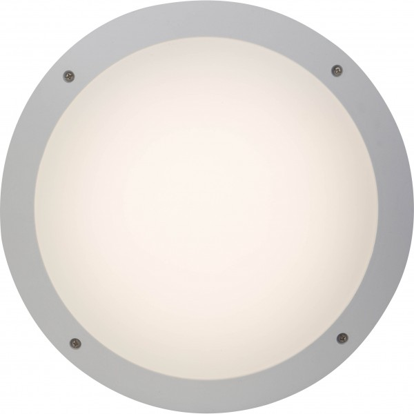 Brilliant G96053/05 Medway Außenwand- und Deckenleuchte 31cm Kunststoff weiß