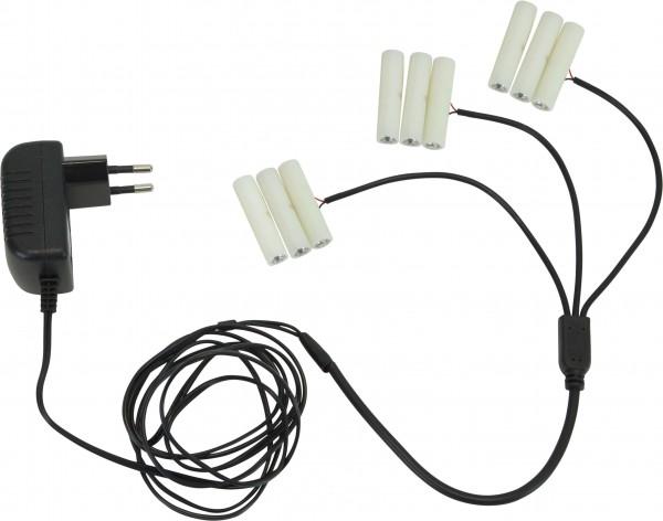 Star Trading 062-03 Stromadapter für Batterieart., ersetzt 3x 3 AAA