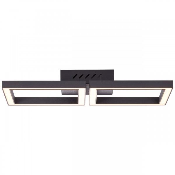 Brilliant G99285/06 Quon Wand- und Deckenleuchte 41x20cm Metall/Kunststoff schwarz