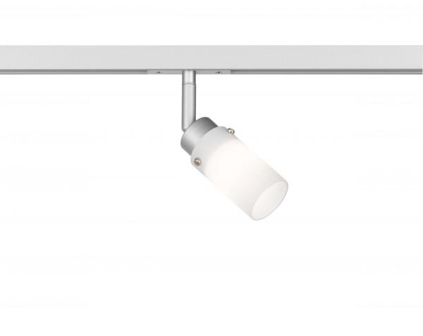 M6 Licht / HV-Track6 70337 Spotkopf 1x G9 max.25W silberfarben, Glas opal