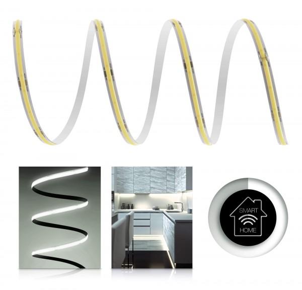 24V COB LED Streifen Smart Home-Set | neutralweiß | inkl Zigbee Controller & Netzteil | 1-7m | IP20