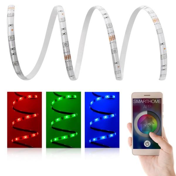12V LED Streifen Set | RGB | Trafo und WiFi Controller | 1 bis 10m wählbar | IP65
