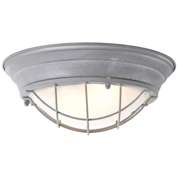 Brilliant 94492/70 Typhoon Wand- und Deckenleuchte 34cm Metall/Glas grau Beton/weiß