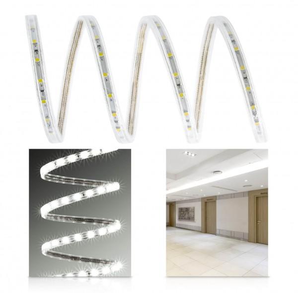 230V LED High Power Streifen Set | neutralweiß | Anschlusskabel | 1 bis 50m wählbar | IP68