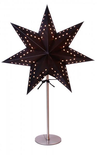 "Star Trading 233-52 Standleuchte ""Bobo"", E14-Fassung, schwarz"
