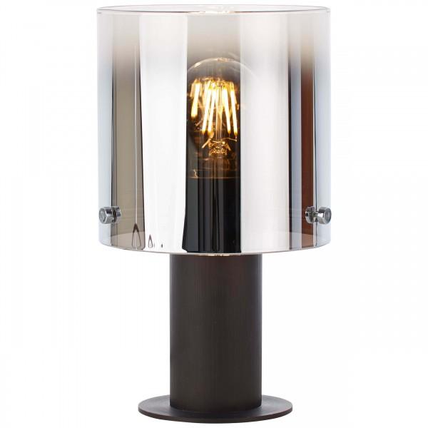 Brilliant 75547/20 Beth Tischleuchte Glas/Metall Kaffee/rauchglas