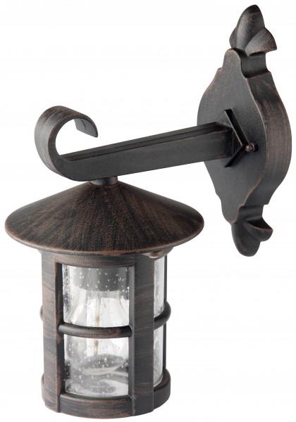 Brilliant 45582/60 Jordy Außenwandleuchte, hängend Metall/Glas schwarz-rost-braun/gewischt