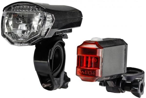 """Fahrrad LED-Beleuchtungsset """"CFL 30 pro"""", 30Lux, StVZO zugelassen, Lithium-Akku"""