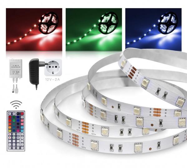STARKlicht 12V RGB LED Streifen 3m Set 30 LED/m