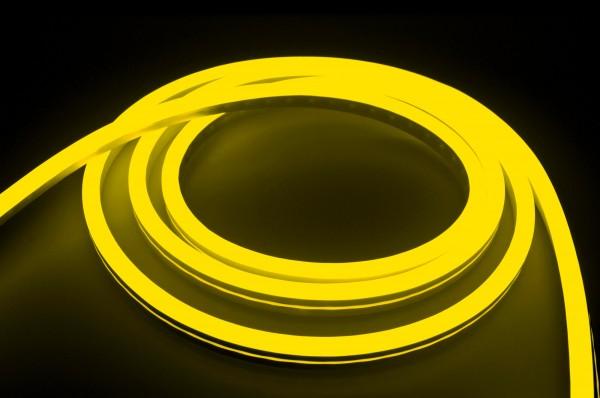 230V LED NeonFlex Streifen Set | gelb | Netzkabel opt 3 Längen | 1 bis 50m wählbar | IP66