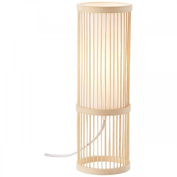 Brilliant 92769/09 Nori Tischleuchte Bambus/Textil natur/weiß