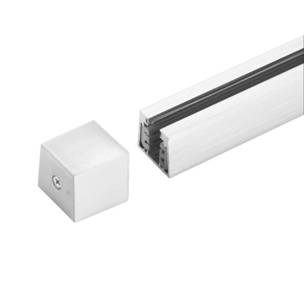 M6 Licht / HV-Track4 24550 Stromschienen-Endkappe nickel matt