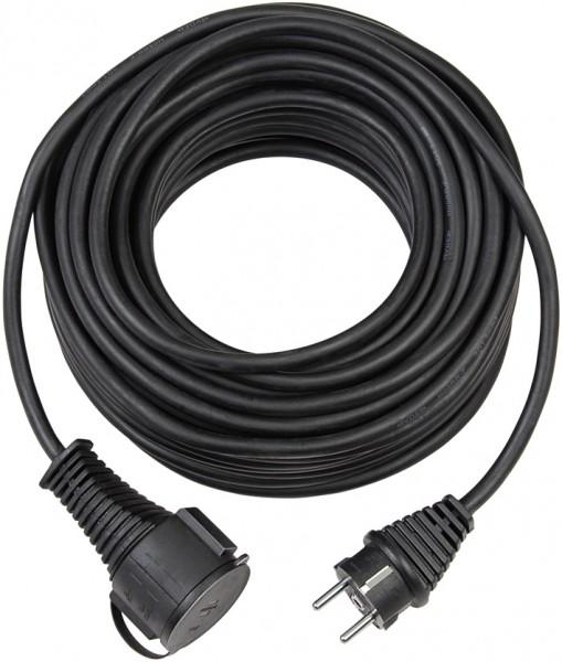 Brennenstuhl Qualitäts-Gummi-Verlängerungskabel IP44 10m H05VV-F 3G1,5 schwarz