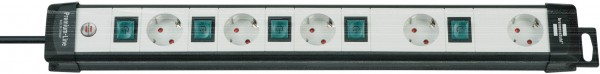 Brennenstuhl Premium Technik Steckdosenleiste 5-fach einzeln schaltbar 3m Kabel schwarz/lichtgrau