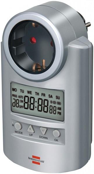 Brennenstuhl Primera-Line Zeitschaltuhr DT, digitale Timer-Steckdose (Wochen-Zeitschaltuhr mit Count